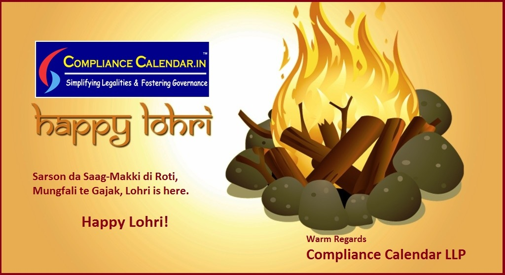 Team Compliance Calendar LLP wishes you Happy Lohri